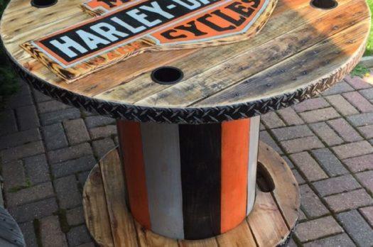 DIY tafel van Harley Davidson