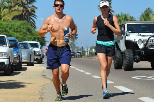Echte mannen doen aan barefoot running