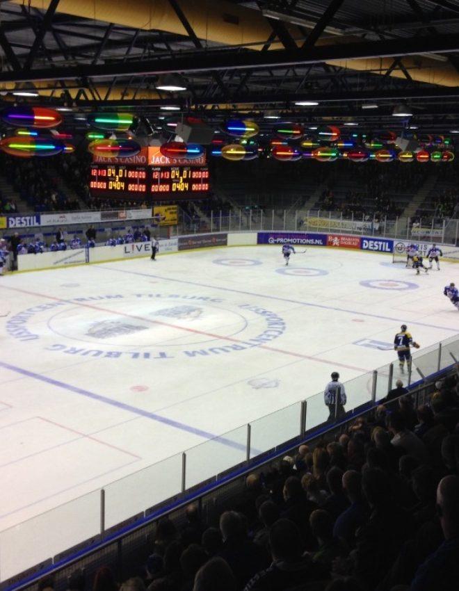 Avondje IJshockey kijken in Nederland