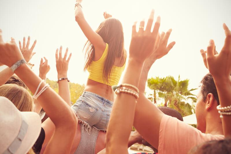 festivalbezoekers