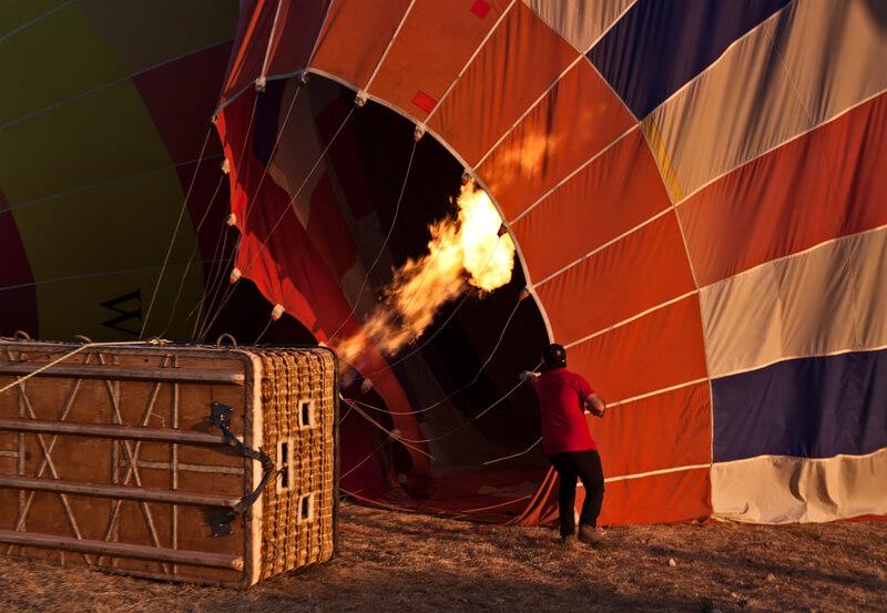 ballonvaart in corona tijd