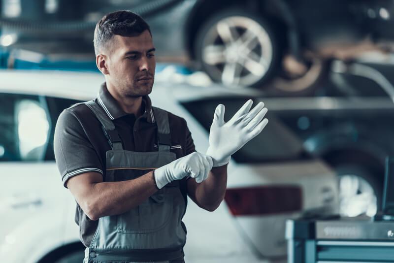 handschoenen tijdens het werken